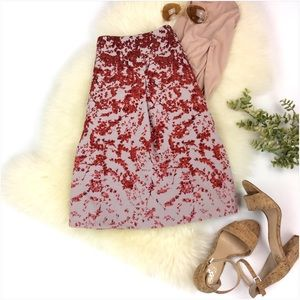 The Limited Red Multi Color Floral Skirt Size L